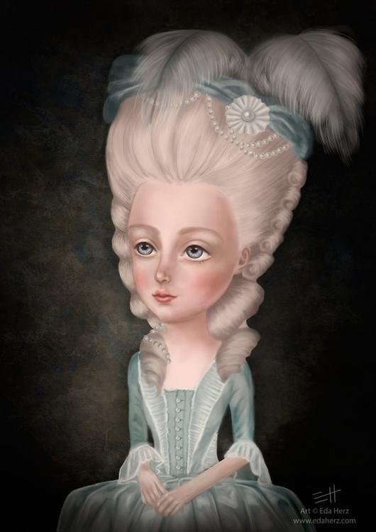 'Marie Antoinette' (2014 - illustration - edaherz | ello