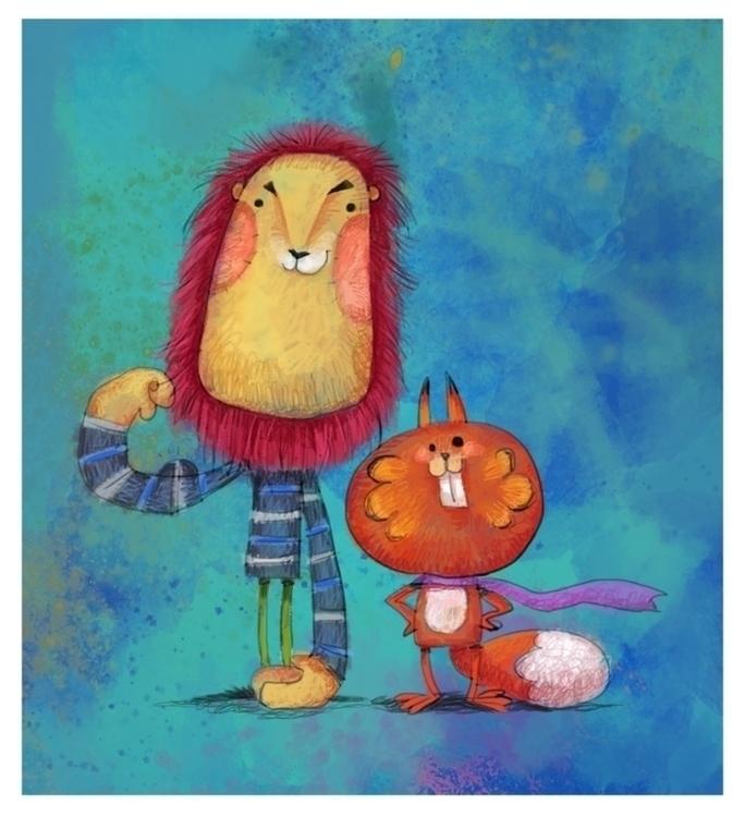 lion, animal, cartoon, illustration - cynthiaxing   ello
