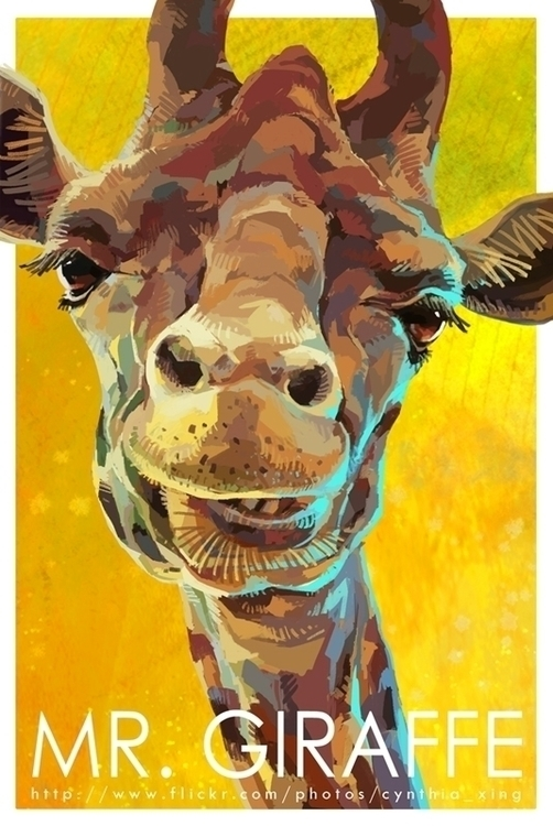 giraffe, animal, card, cartoon - cynthiaxing | ello