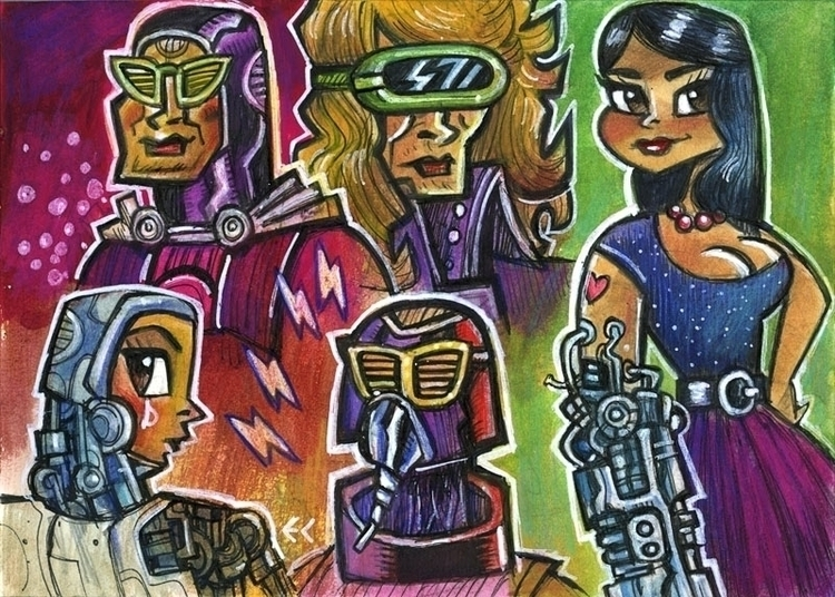 Girl Robot Arm - robot, girl, characterdesign - eddycrosby | ello