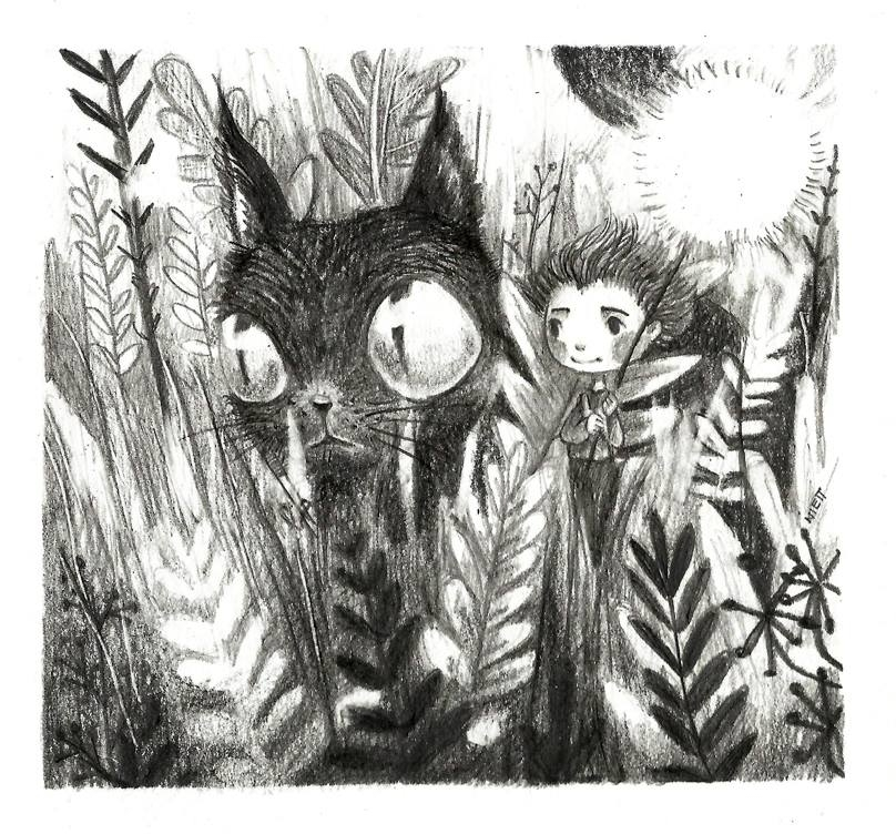 illustration, drawing, cat, children'sillustration - saraniett | ello