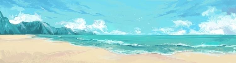 sea, blue, cloud - cynthiaxing | ello
