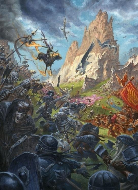 Battle Eyrie. Oils primed illus - ralph_horsley | ello