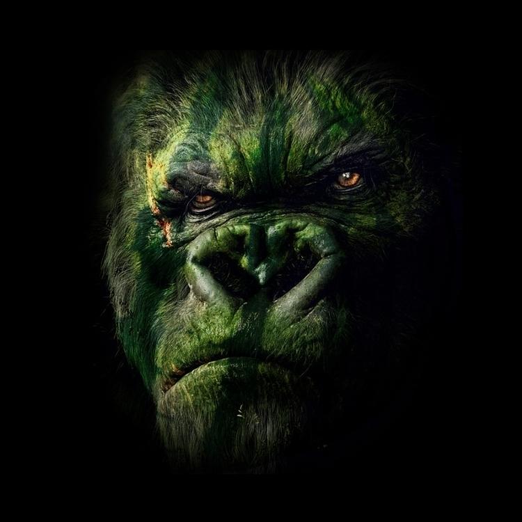 WATERMELON GORILLA - gorilla, gorillas - bcastaneda   ello