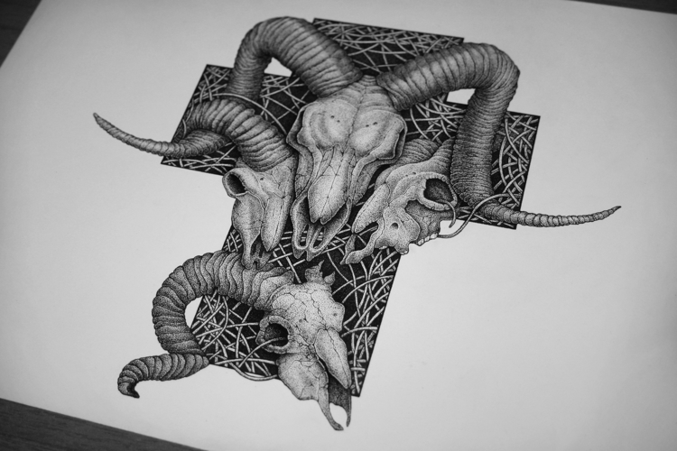 Boneyards - illustration, drawing - artsc0re | ello