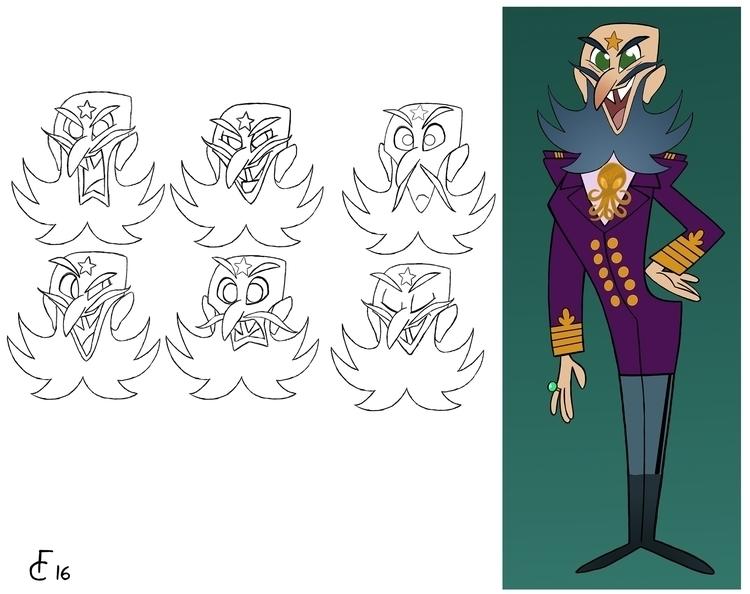 Captain Nemo expression sheet.  - finbarcoyle | ello