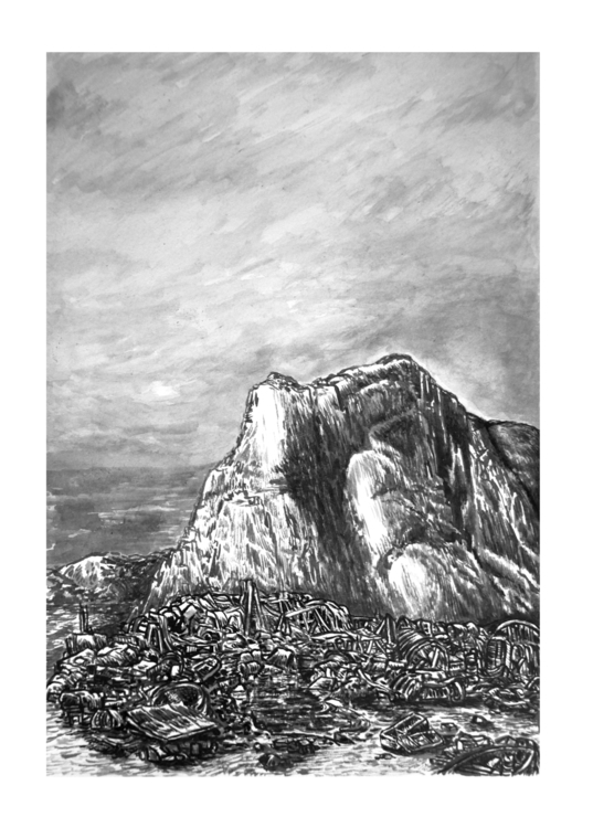 Mountain - painting, drawing - stephanemercier | ello