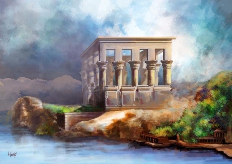 Temple landscape buy digital ar - hadya-7970   ello