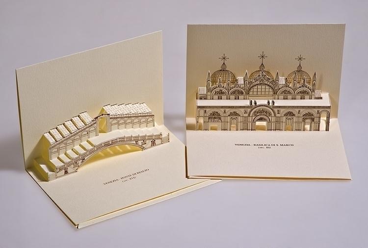 Monuments Venice, Italy - 3d, popupcard - giovannirussografico-1091 | ello