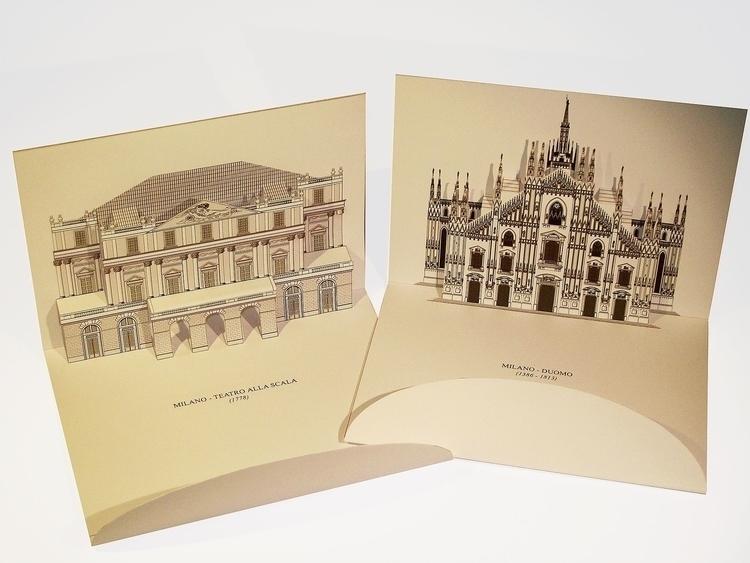 Monuments Milan, Italy - 3d, popup - giovannirussografico-1091 | ello