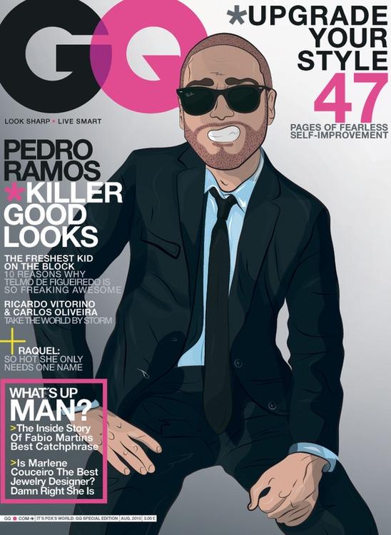 GQ Cover Special Edition - illustration - pedrobrinca | ello