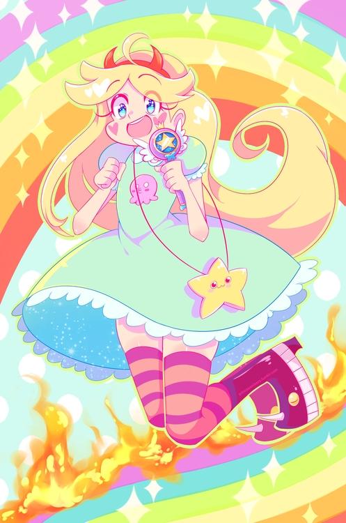 star butterfly - illustration, disney - princessmisery | ello