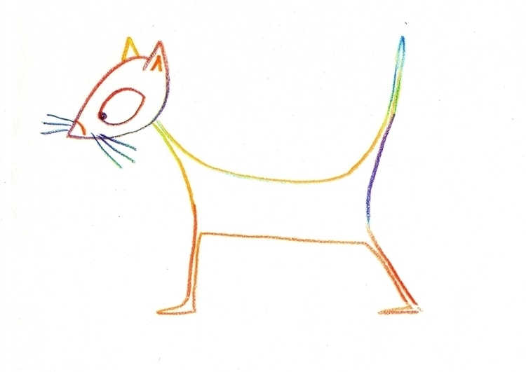 illustration, magicpencil, cat - cpowell-1234 | ello