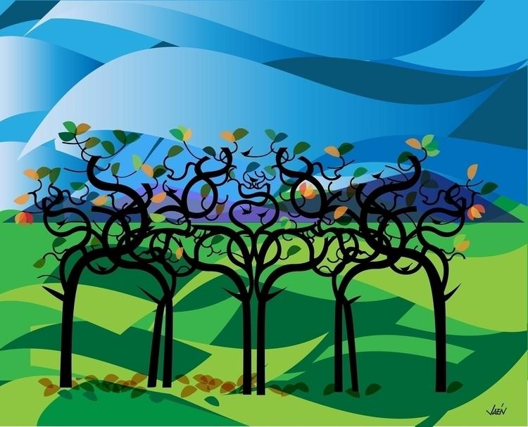 Blue Mountains - illustration - manueljaen   ello