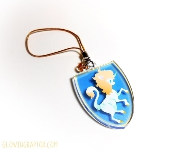 Cloey Unicorn rampant charm - unicorn - allytha | ello