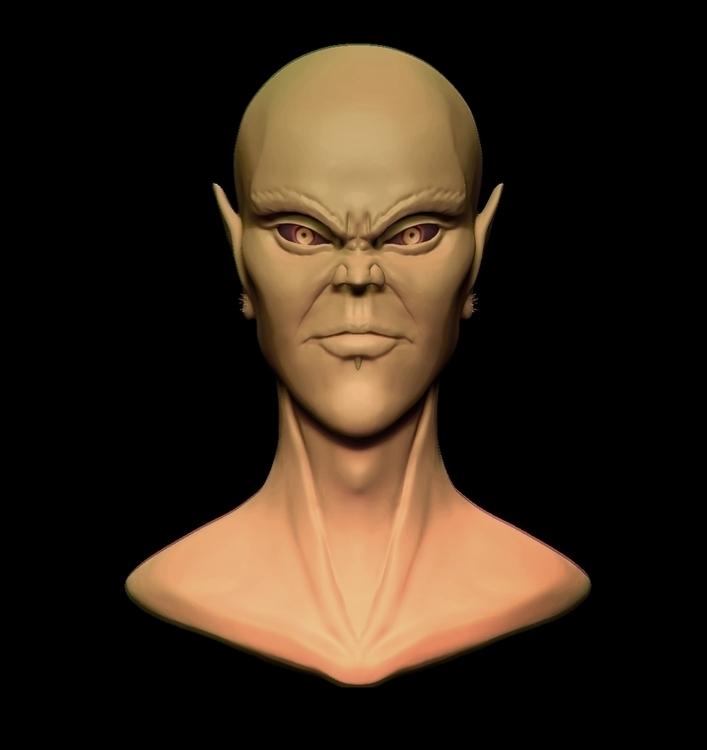 Evil Elf - 3d, 3dart, 3dprint, characterdesign - siddp | ello