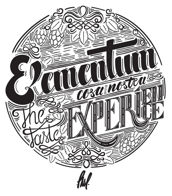 Lettering developed Elementum b - henrique_friedrichs | ello