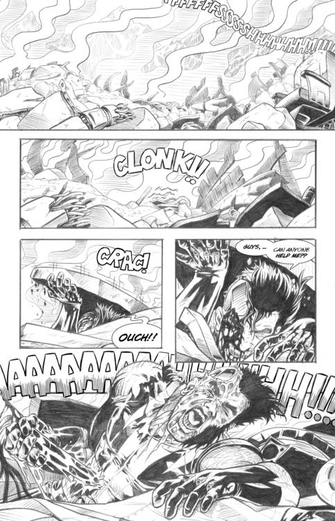 page 6 - wolverine, pencil, comicpage - alexfemenias | ello