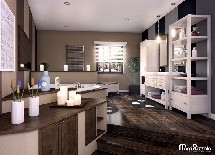 3d, interior, illustration, 3dinteriordesign - morris_rizzolo | ello