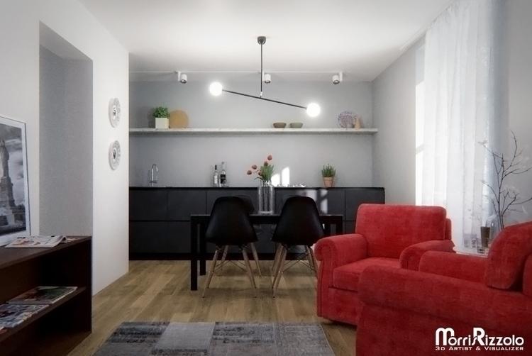 3d, interior, 3dinteriordesign - morris_rizzolo | ello