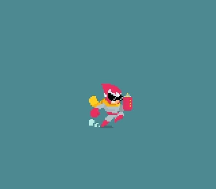 Protoman ~ - pixelart, gameart, fanart - planckpixels | ello