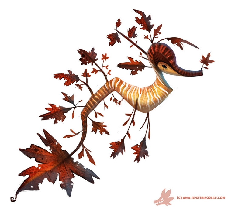 Daily Paint Autumn Dragon - 1024. - piperthibodeau | ello