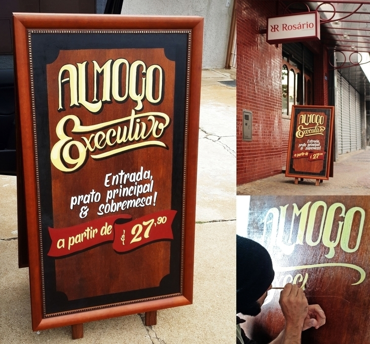 Double sided easel sign Lunch S - gibara | ello