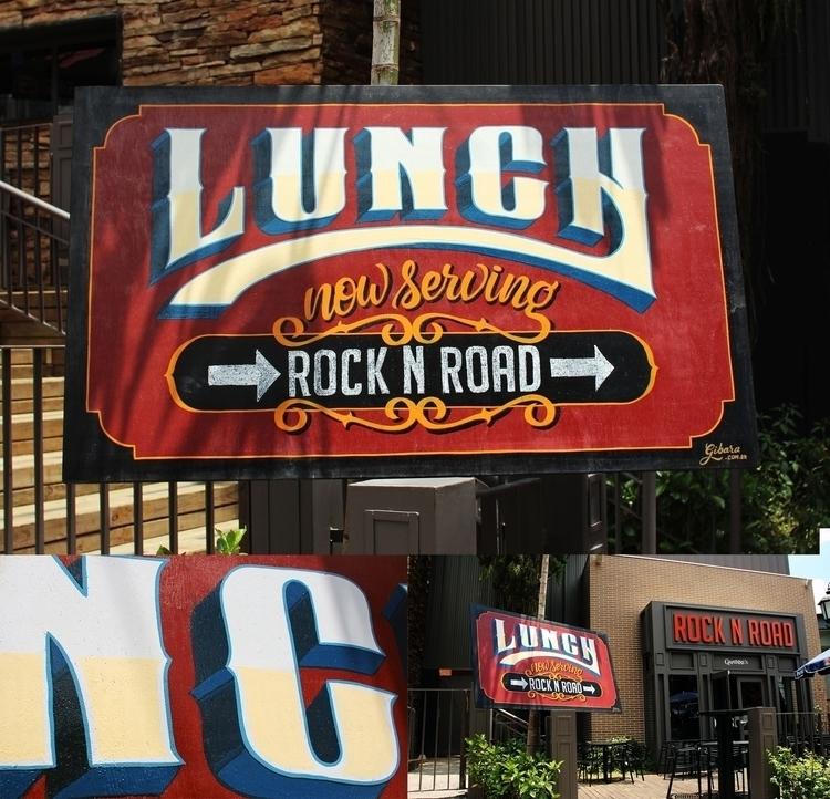 Lunch sign restaurant - food, signpainting - gibara | ello