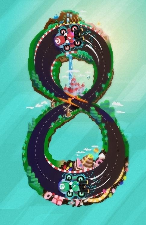 Mario Kart 8 - illustration, nintendo - joshmartinez-1097 | ello