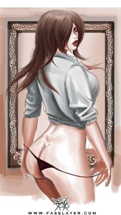Sexy girl - digitalart, illustration - fasslayer | ello