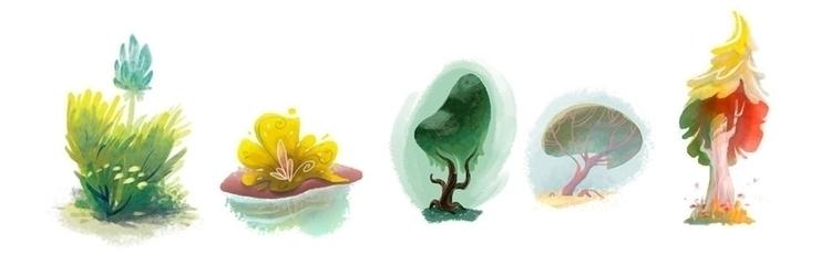 Plant doodles - conceptart, plants - mcrotts | ello