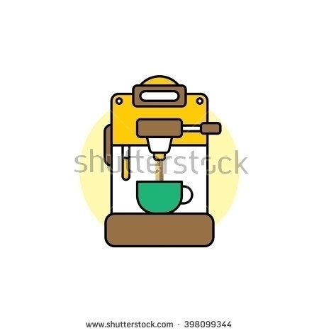 coffee machine - illustration, vectorart - vector1st | ello