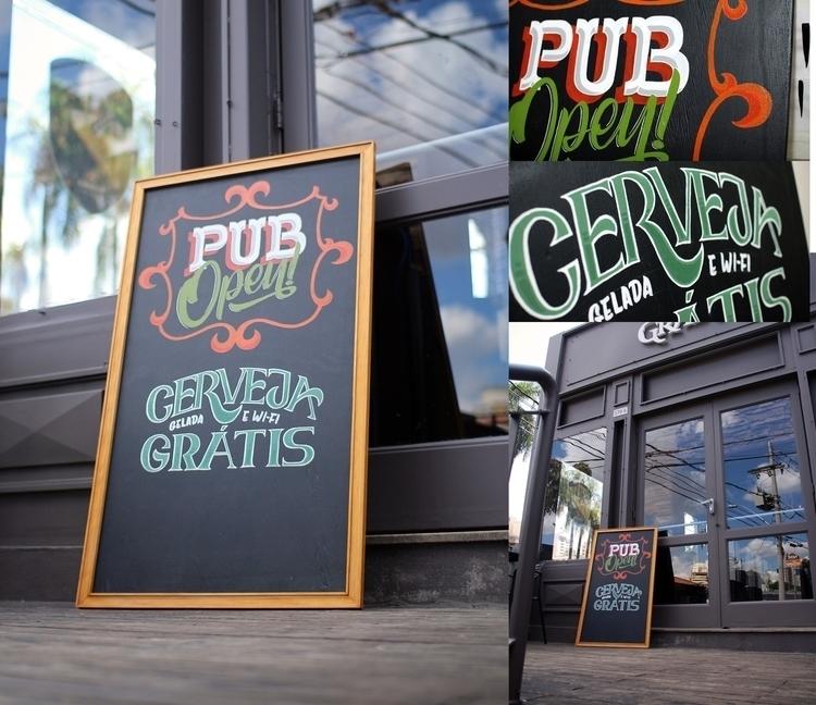 Pub entrance sign - pub, signpainting - gibara | ello