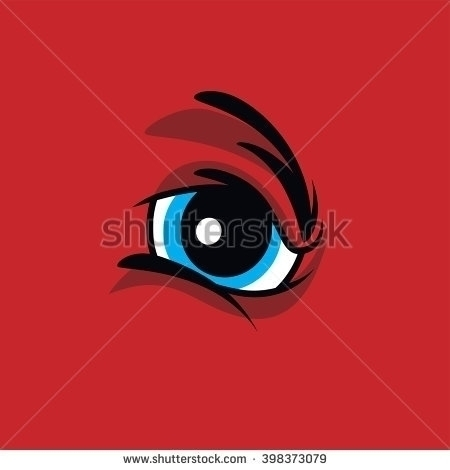 angry monster eye - vectorart, red - vector1st | ello