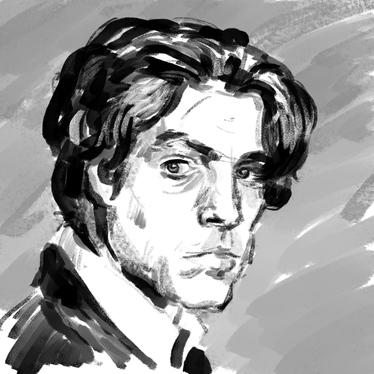 Hugh Grant sketch - portrait, digitalart - prianikn | ello