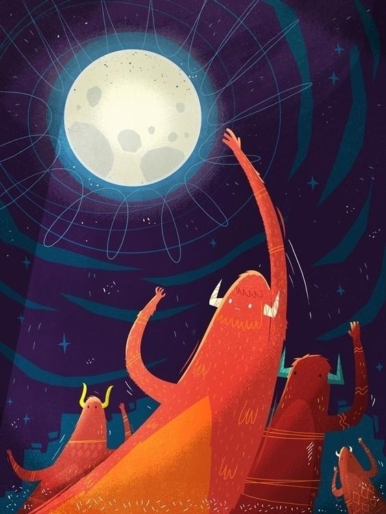Touch Moon - dream,moon,goals - sounas | ello