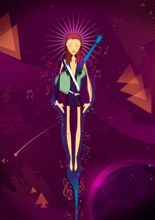 Star Girl - space,star,girl,guitar,music - sounas | ello