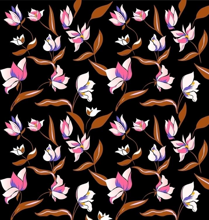 Pattern Autumn flowers - illustration - nataliya_fedun | ello