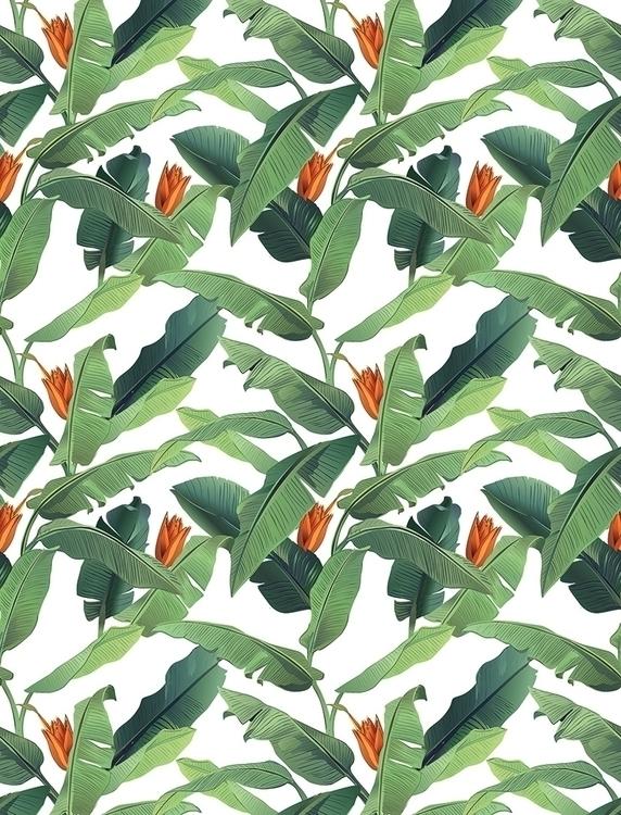 Banana leaves - illustration, fashion - nataliya_fedun | ello