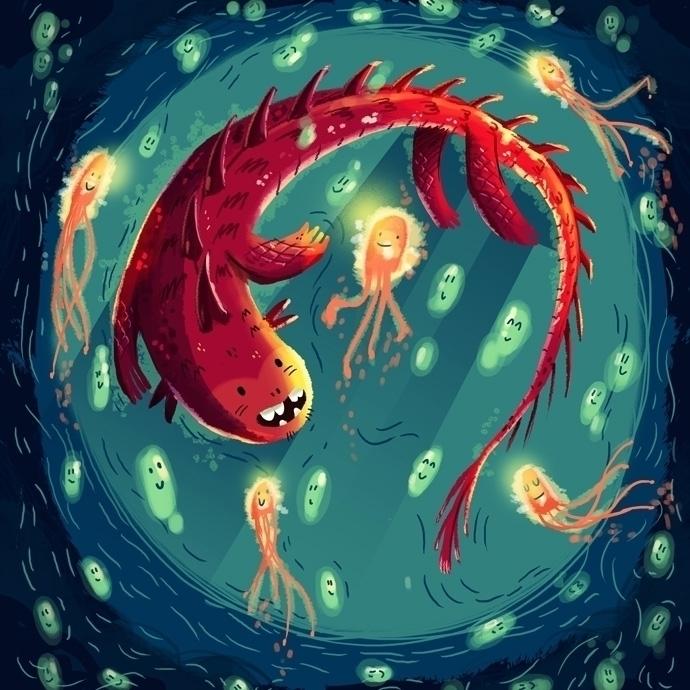 Sea Dragon - sea,ocena,deep,fish,jellyfish - sounas | ello
