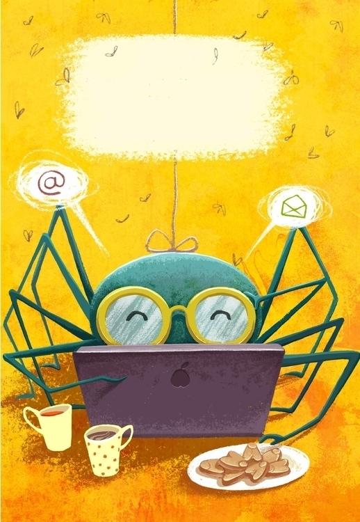 Spider - spider, children'sillustration - alena_tkach   ello