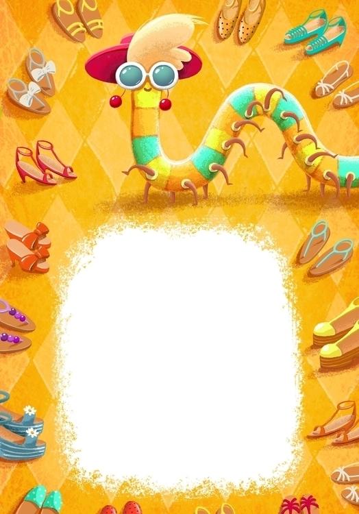 ?entipede - centipede, children'sillustration - alena_tkach   ello