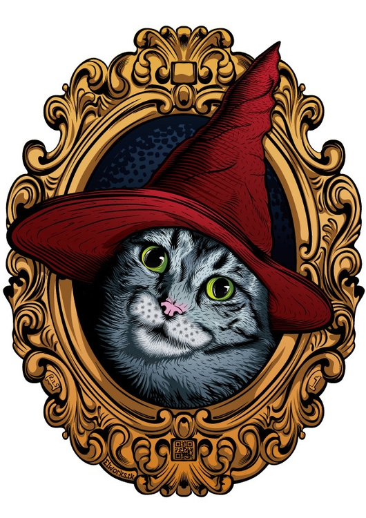 Wizard Cat (Magicat - magic, cat - e1_since1987 | ello