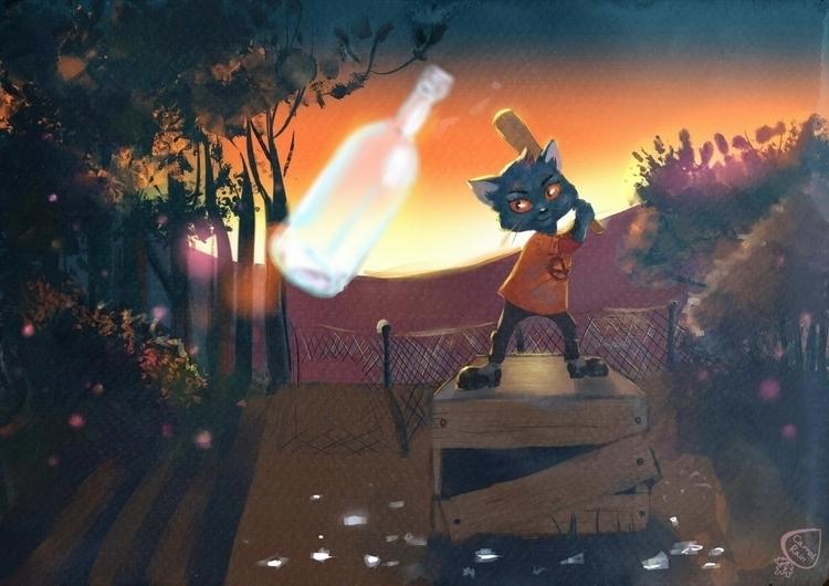 Mae (Night Woods - illustration - carrotrain | ello