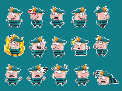 Kid Sticker Pack - illustration - rockcodile | ello