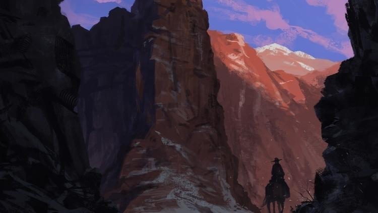 Fork Road - #canyonpass, digitalillustration - andrewcherry | ello