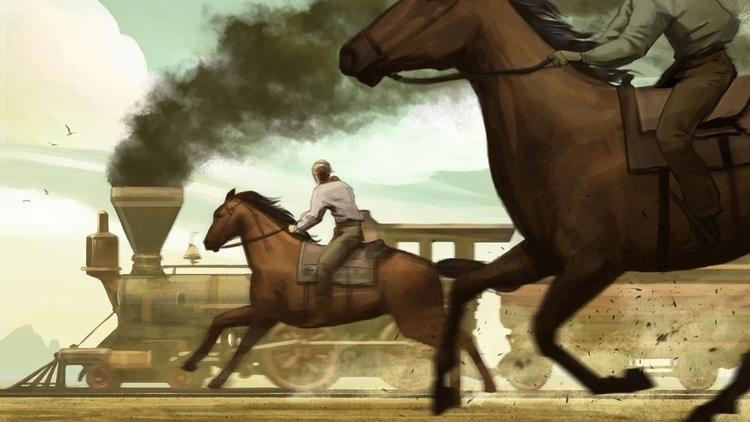 Modernity Race - oldwest, horse - andrewcherry | ello
