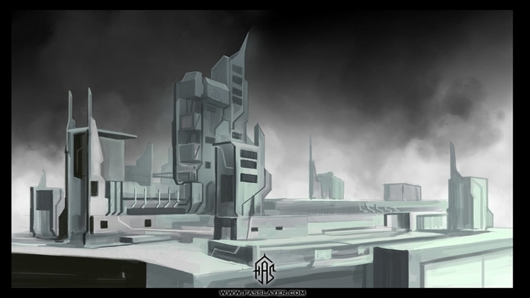 Factory, digital illustration - painting - fasslayer | ello
