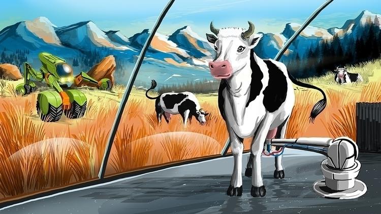 happy cow Sächsische Zeitung - illustration - malteknaack | ello