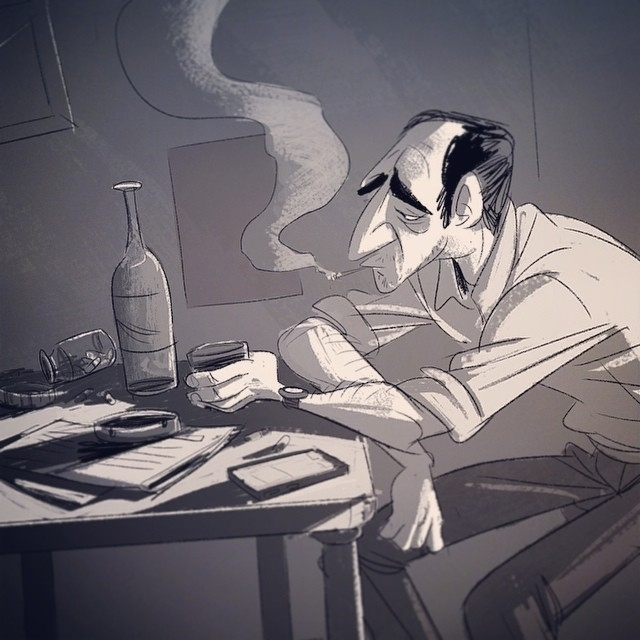 Contemplation - characterdesign - drawandestroy   ello